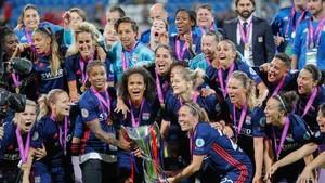 La alegría final de las jugadoras del Olympique de Lyon estaba más que justificada