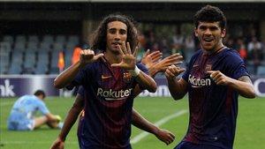 Aleñá y Cucurella durante su etapa en el Barça B