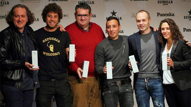 Andrés Iniesta, Vero Boquete y Santi Cazorla, premios Panenka 2018
