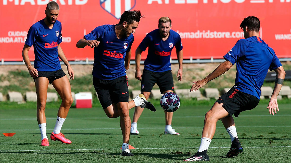 El Atlético de Madrid continúa con su preparación para medirse al Leipzig