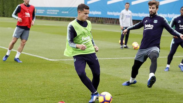 El Barça ya se prepara para el Atlético con Coutinho