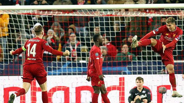 Cabezazo de Keita para adelantar al Liverpool frente al Salzburgo