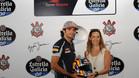 Carlos Sainz y Bianca Senna, en Sao Paulo