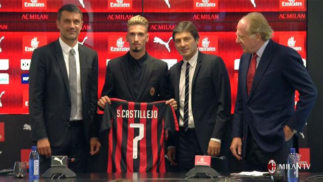 Castillejo, presentado con el Milan