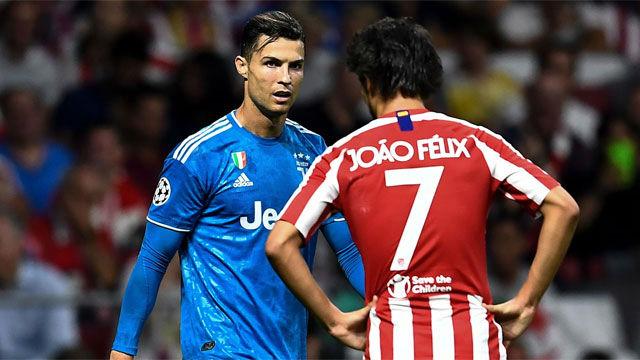 Cristiano y Joao Félix se saludaron antes del duelo
