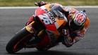 Espectacular imagen de Dani Pedrosa conduciendo su moto