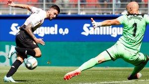 Facundo Ferreyra se lesionó en la acción del tanto del empate contra el Eibar.