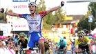 Georg Preidler celebra una victora en el Tour de Polonia