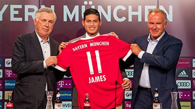 James Rodríguez, presentado con el Bayern
