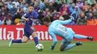 Jordi Alba tuvo la oportunidad de marcar ante el Valencia