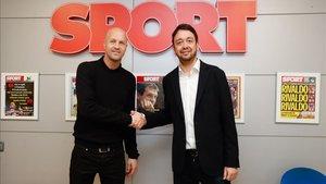 Jordi Cruyff, junto a Ernest Folch, director de SPORT