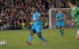 Kaptoum debutó este miércoles con el primer equipo del Barça