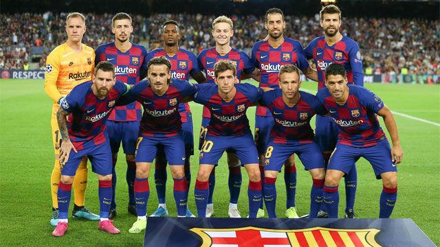 Las notas de los jugadores del Barça, al descanso