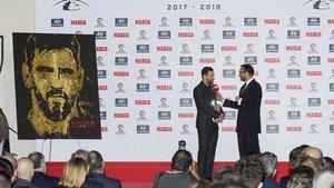 Leo Messi fue distinguido con el trofeo Pichichi y el Di Stéfano por sus goles y actuación en la Liga 2017-18