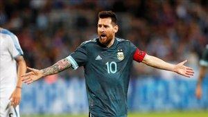 Leo Messi, jugador de Argentina