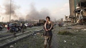 Los devastadores efectos de la explosión en la capital del Líbano, Beirut