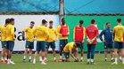 Los jugadores del Espanyol ya entrenan con la vista puesta en el duelo ante el Alavés.