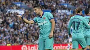 Luis Suárez ha vuelto a marcar tras asistencia de Leo Messi