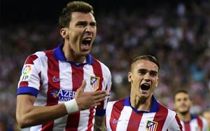 Mandzukic, autor del gol que rompió el gafe del Atlético