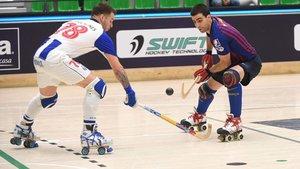 Marc Gual encara a Helder Nunes en la semifinal de la Fina Four
