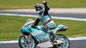 Marcos Ramírez celebrando su resultado