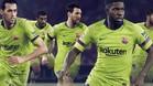 Messi, Busquets, Umtiti, Súarez y Paulinho, con la nueva equipación