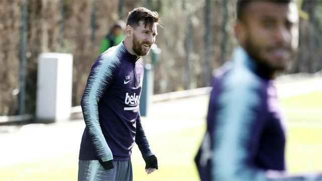 Messi y Umtiti entrenan con normalidad