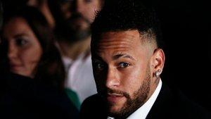 Neymar declarando sobre el caso de Najila