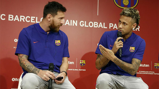 Neymar habló de la lucha goleadora con Messi
