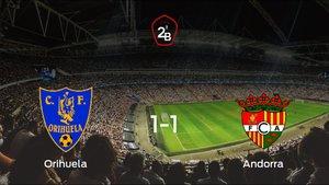El Orihuela CF y el FC Andorra se reparten los puntos tras su empate a uno