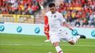 Pepe, en un partido de preparación para el mundial con Portugal