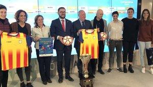 Presentación del Catalunya - Chile en la Federación Catalana de Fútbol