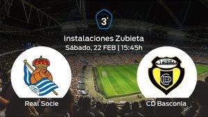 Previa del partido de la jornada 26: Real Sociedad C contra Basconia