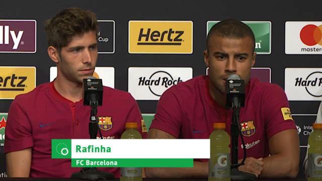 Rafinha evita hablar de su futuro en el Barça