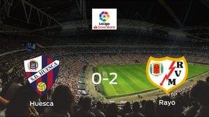 El Rayo Vallecano se queda con los tres puntos después de derrotar 0-2 al Huesca