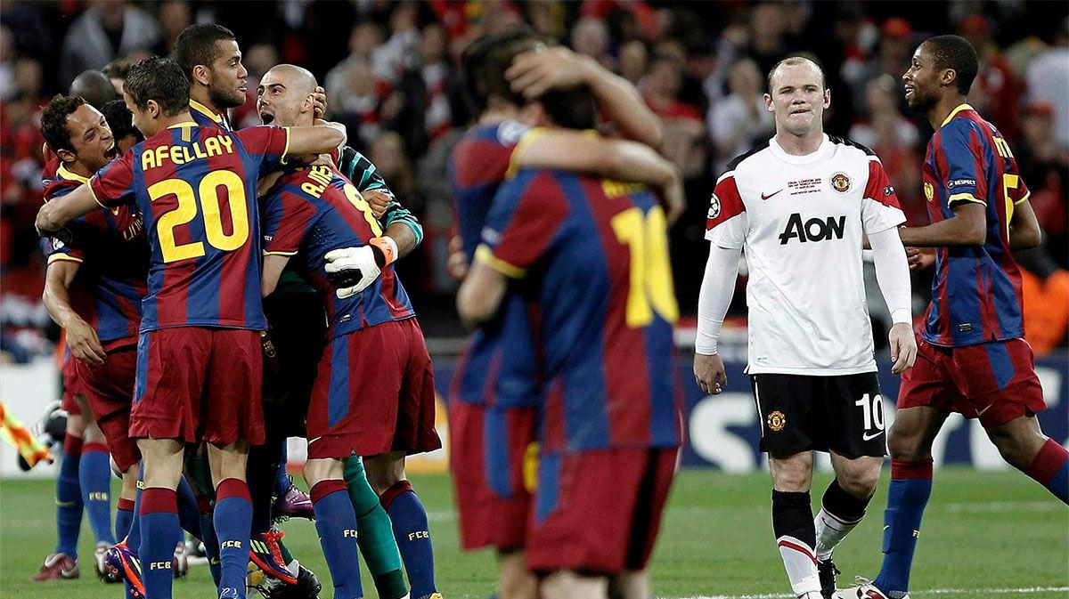 Recuerda el gol de Villa en la final de la Champions ante el Manchester United