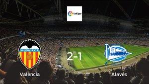 Valencia cruise to a 2-1 victory over Alavés at Mestalla