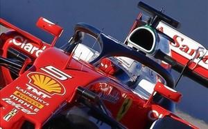 Vettel llevó el sistema Halo en su Ferrari