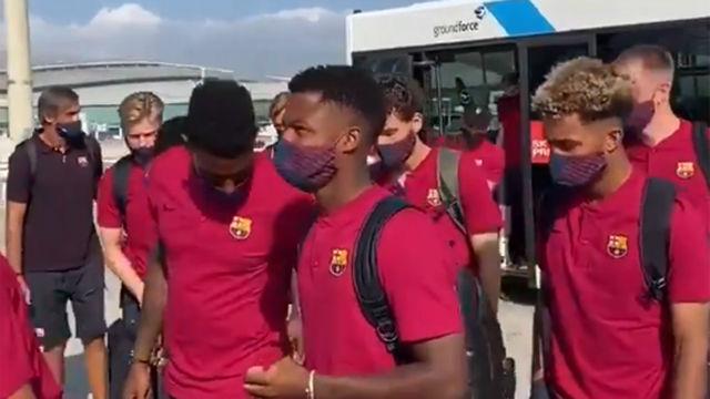 El viaje del Barça a Lisboa