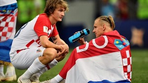 Vida, apesadumbrado tras caer derrotado en la final del Mundial de Rusia