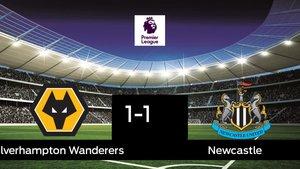 El Wolverhampton Wanderers y el Newcastle empatan (1-1)