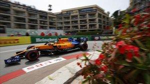 Carlos Sainz, durante el transcurso de la clasificación