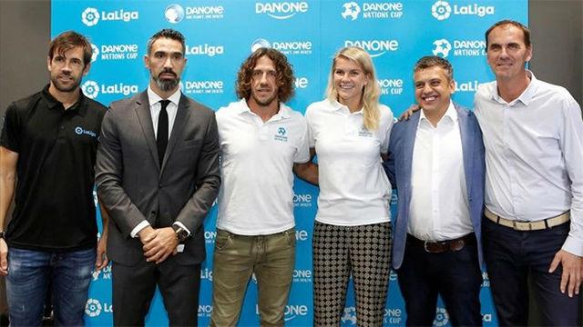 Ada Hegerberg, Puyol y Albelda, embajadores de la Copa Danone