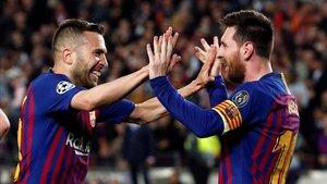 Alba-Messi, una pareja que funciona muy bien en los terrenos de juego