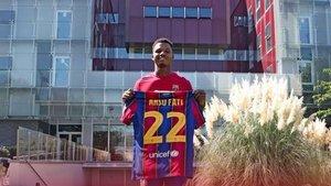 Ansu Fati, nuevo dorsal 22 del FC Barcelona