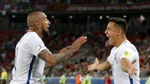 Arturo Vidal y Alexis Sánchez, pilares de Chile en la Copa América