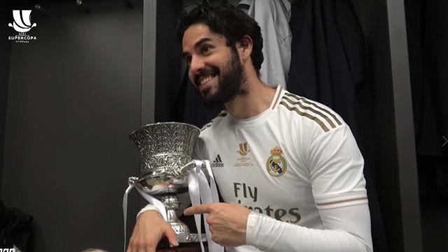 Así se vivió en el vestuario del Real Madrid el triunfo en la Supercopa