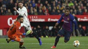 El Barça jugó un partido malo en el Sánchez Pizjuán