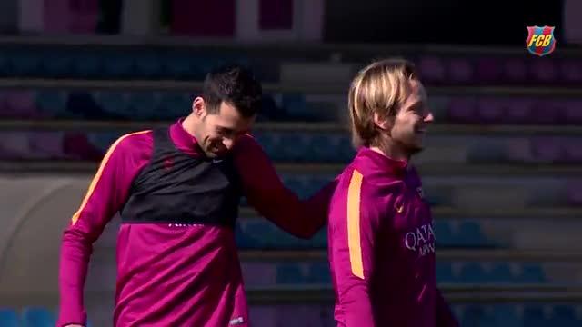 El Barça volvió al trabajo tras dos días de descanso