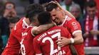 El Bayern Múnich goleó al Bourssia Mgladbach tras voltear el marcador (4-1).